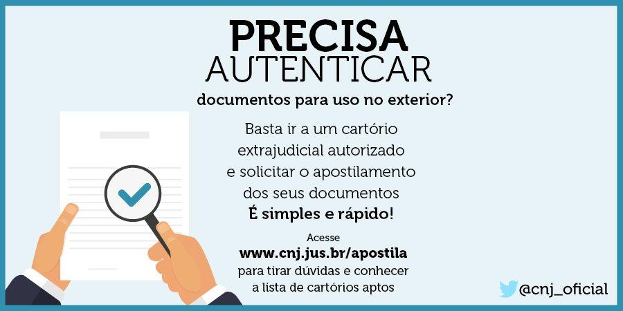 Documentos passíveis de autenticação